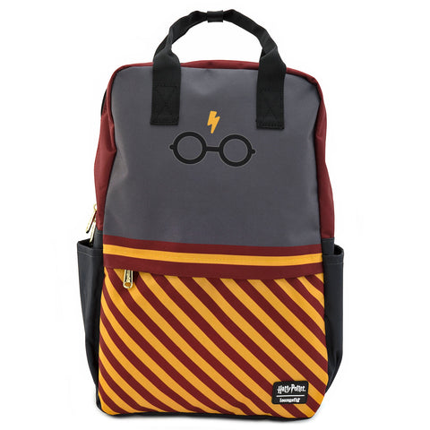 Loungefly X Harry Potter Bolt Glasses Square Nylon Backpack