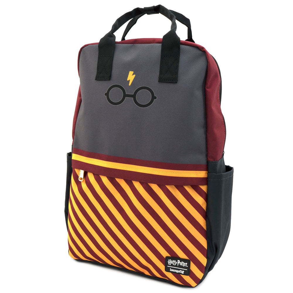 Loungefly X Harry Potter Bolt Glasses Square Nylon Backpack-zoom