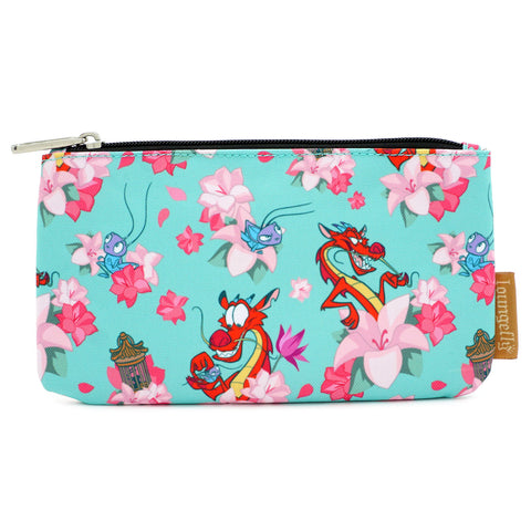 Loungefly X Disney Mulan Mushu and Crikee Nylon AOP Pouch