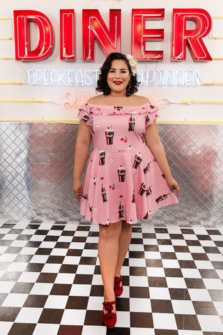 "Stitch Shoppe X Coca-Cola AOP Float ""Lizzy"" Date Night Dress"
