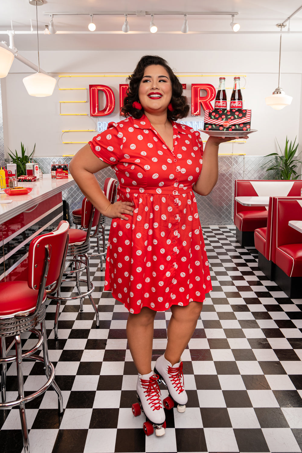 "Stitch Shoppe X Coca-Cola Bottle Cap AOP ""Desy"" Dress-zoom"