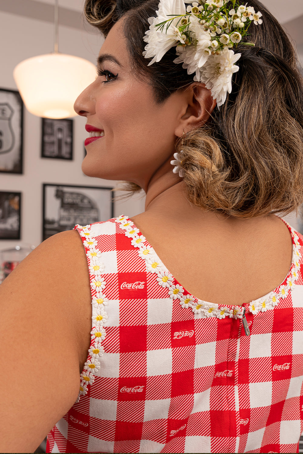 "Stitch Shoppe X Coca-Cola Gingham Belt ""Olivia"" Dress-zoom"