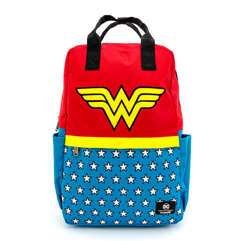 Loungefly X DC Comics Wonder Woman Vintage Nylon Square Backpack