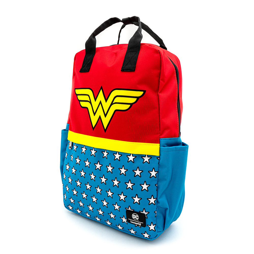 Loungefly X DC Comics Wonder Woman Vintage Nylon Square Backpack-zoom