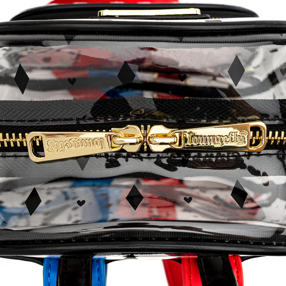 Loungefly X Birds of Prey Harley Quinn Clear PVC Mini Backpack-zoom
