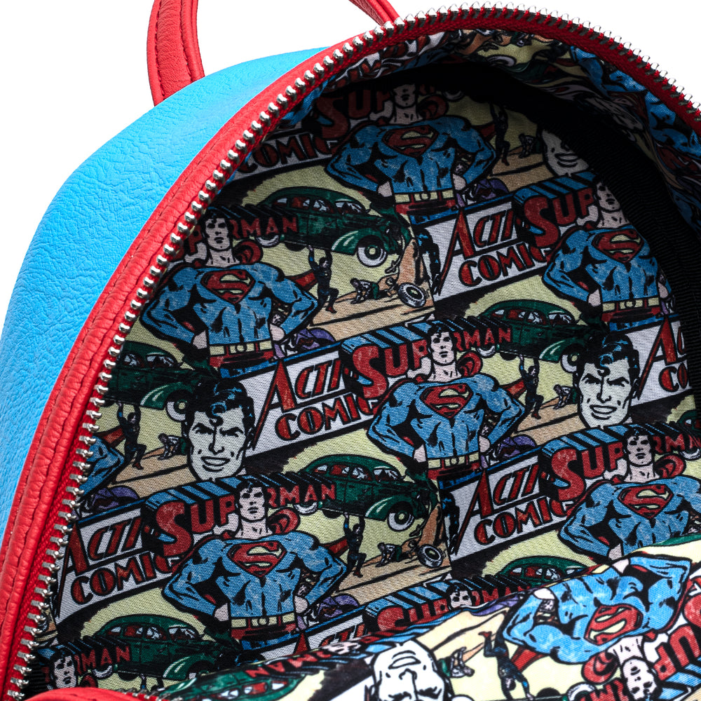 Loungefly X DC Comics Classic Superman Cosplay Mini Backpack-zoom