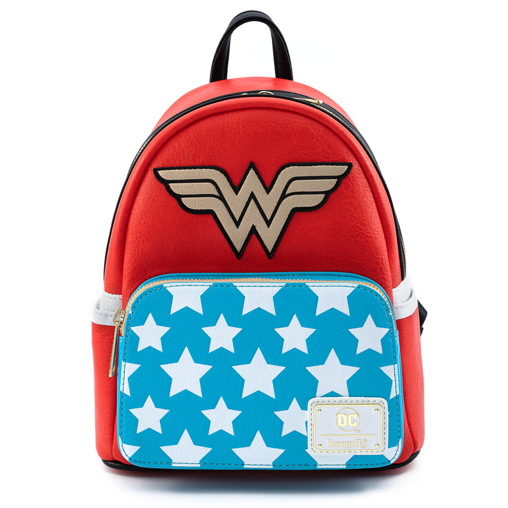 DC Comics Vintage Wonder Woman Cosplay Mini Backpack-zoom