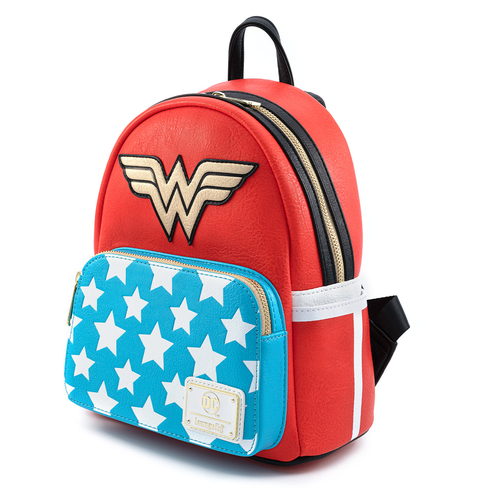 Loungefly X DC Comics Vintage Wonder Woman Cosplay Mini Backpack-zoom
