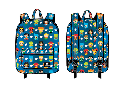 Loungefly X DC Comics Justice League Chibi AOP Nylon Backpack