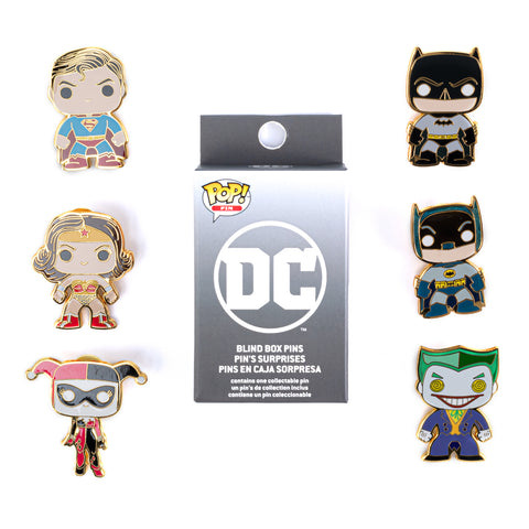 "Funko Pop! by Loungefly DC Comics 1.5"" Blind Box Hard Enamel Pins"