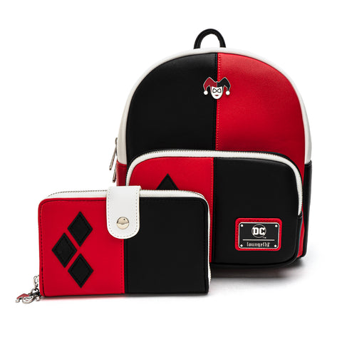 Loungefly X DC Comics Classic Harley Quinn Zip and Snap Wallet