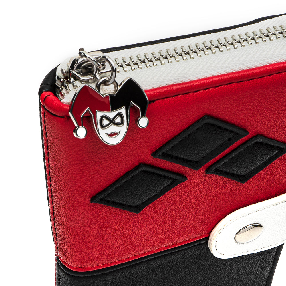 Loungefly X DC Comics Classic Harley Quinn Zip and Snap Wallet-zoom