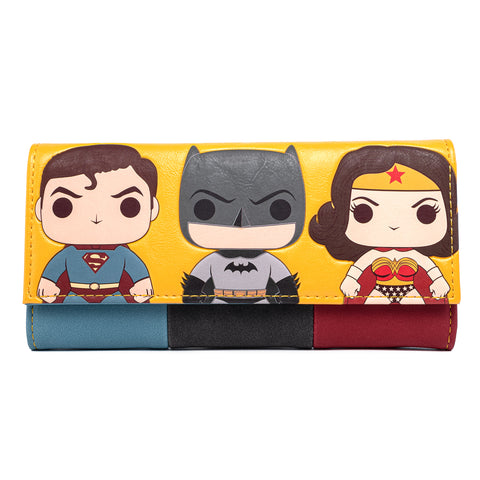 Funko Pop! by Loungefly DC Comics Super Trio Tri-Fold Wallet