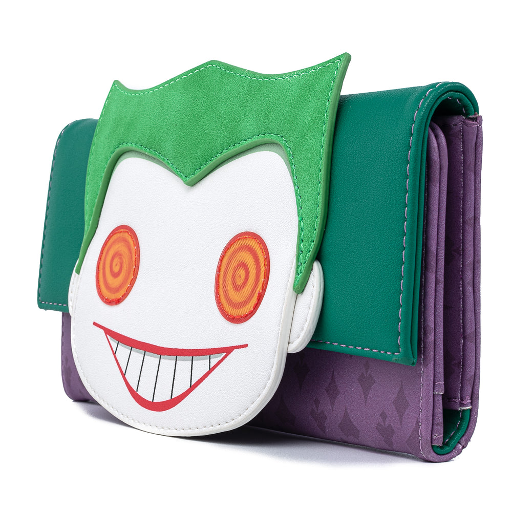 Funko Pop! by Loungefly DC Comics Joker Head Tri-Fold Wallet-zoom