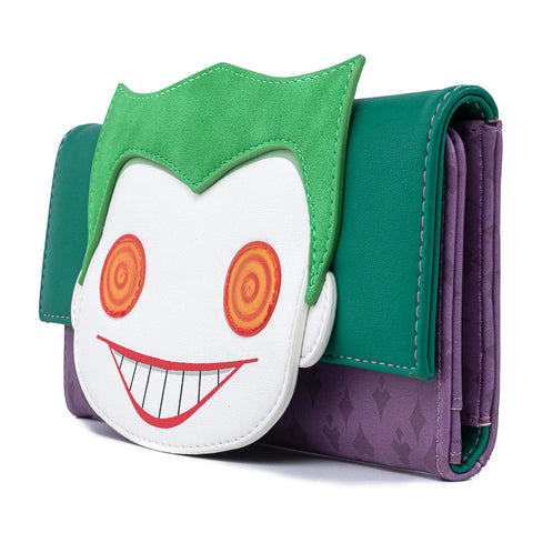 Funko Pop! by Loungefly DC Comics Joker Head Tri-Fold Wallet
