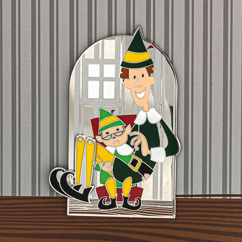 Elf Buddy Collector Box Swinging Enamel Pin-zoom