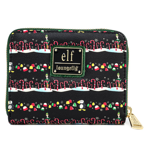 Elf Buddy Candy Cane Forest Zip Around Wallet