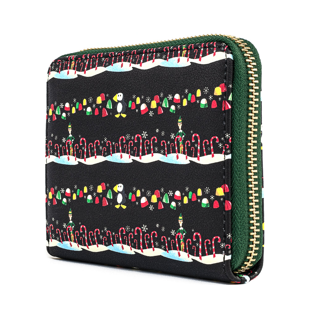 Elf Buddy Candy Cane Forest Zip Around Wallet-zoom