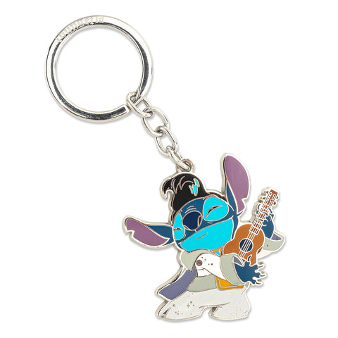 Loungefly X Disney Lilo and Stitch Stitch Elvis Enamel Key Chain