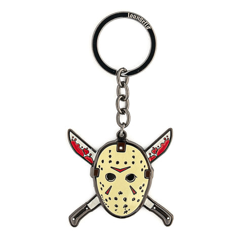 Friday the 13th Jason Mask Enamel Keychain