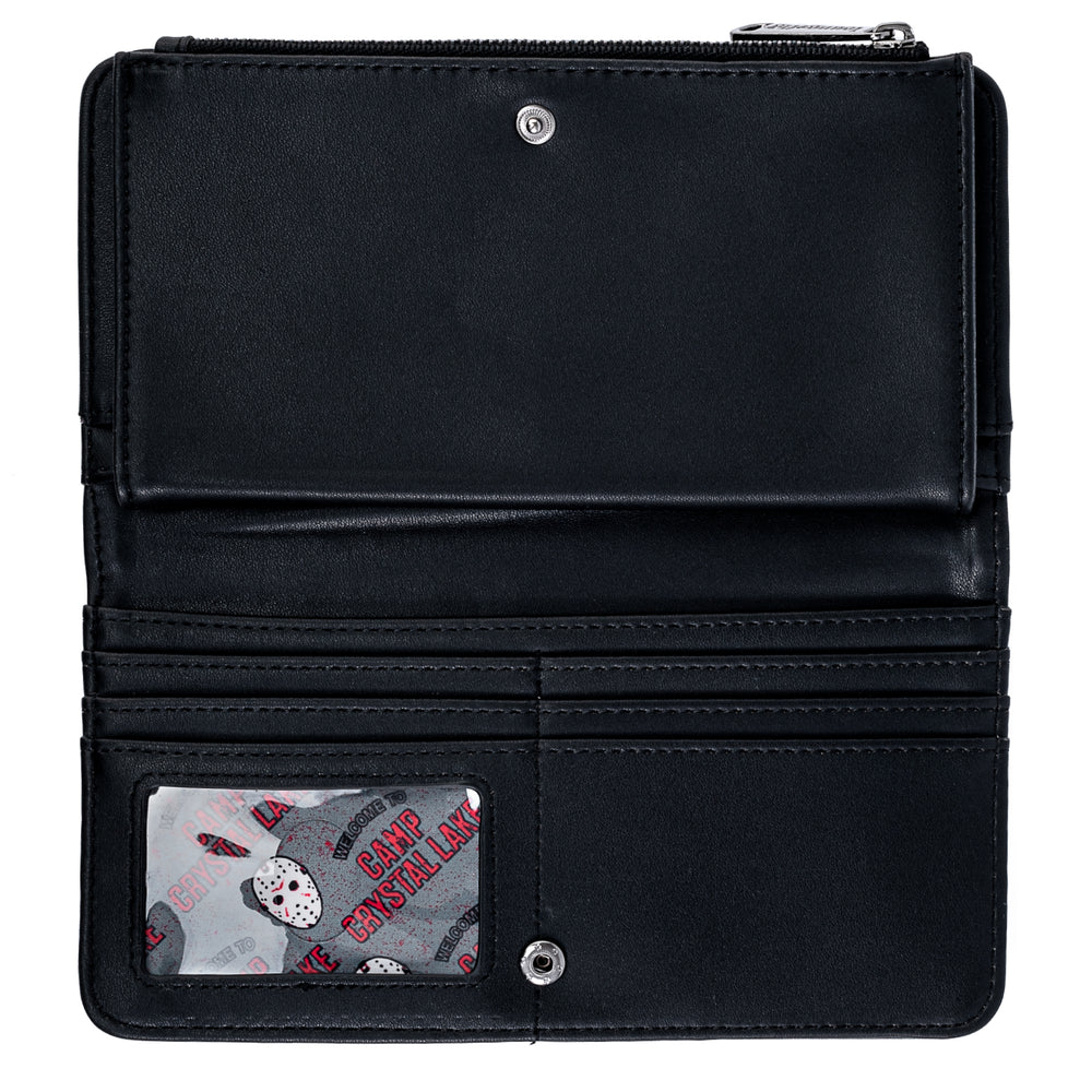 Loungefly Friday The 13th Jason Mask Flap Wallet-zoom