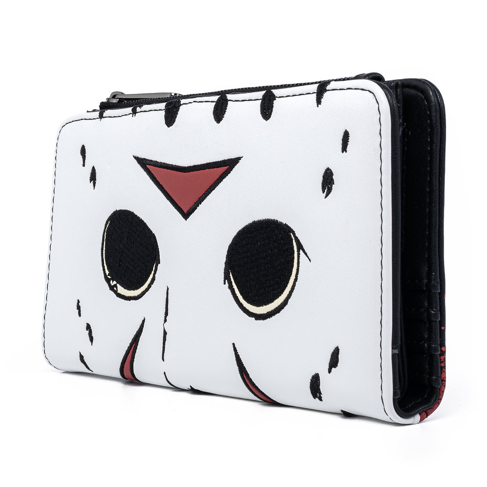 Friday the 13th Jason Mask Flap Wallet-zoom