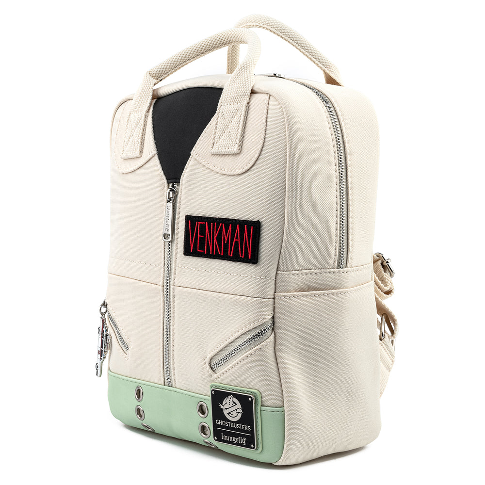 Ghostbusters Venkman Cosplay Square Canvas Mini Backpack-zoom