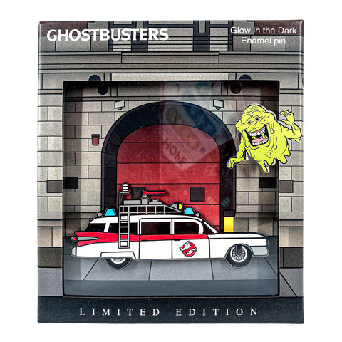 Ghostbusters Ecto-1 Collector Box Glow Enamel Pin