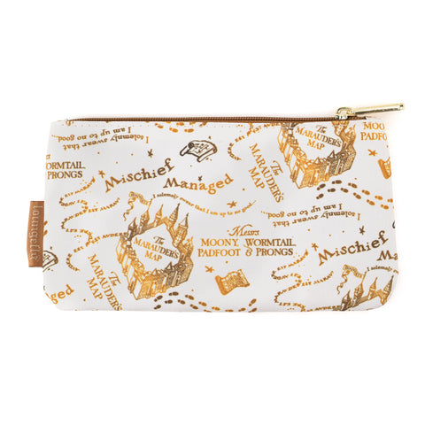 Loungefly X Harry Potter Marauders Map AOP Nylon Pouch