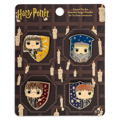 Funko Pop! by Loungefly Harry Potter 4pc Enamel Pin Set