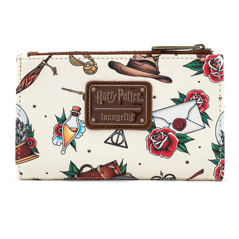 Loungefly X Harry Potter Relics Tattoo Flap Wallet