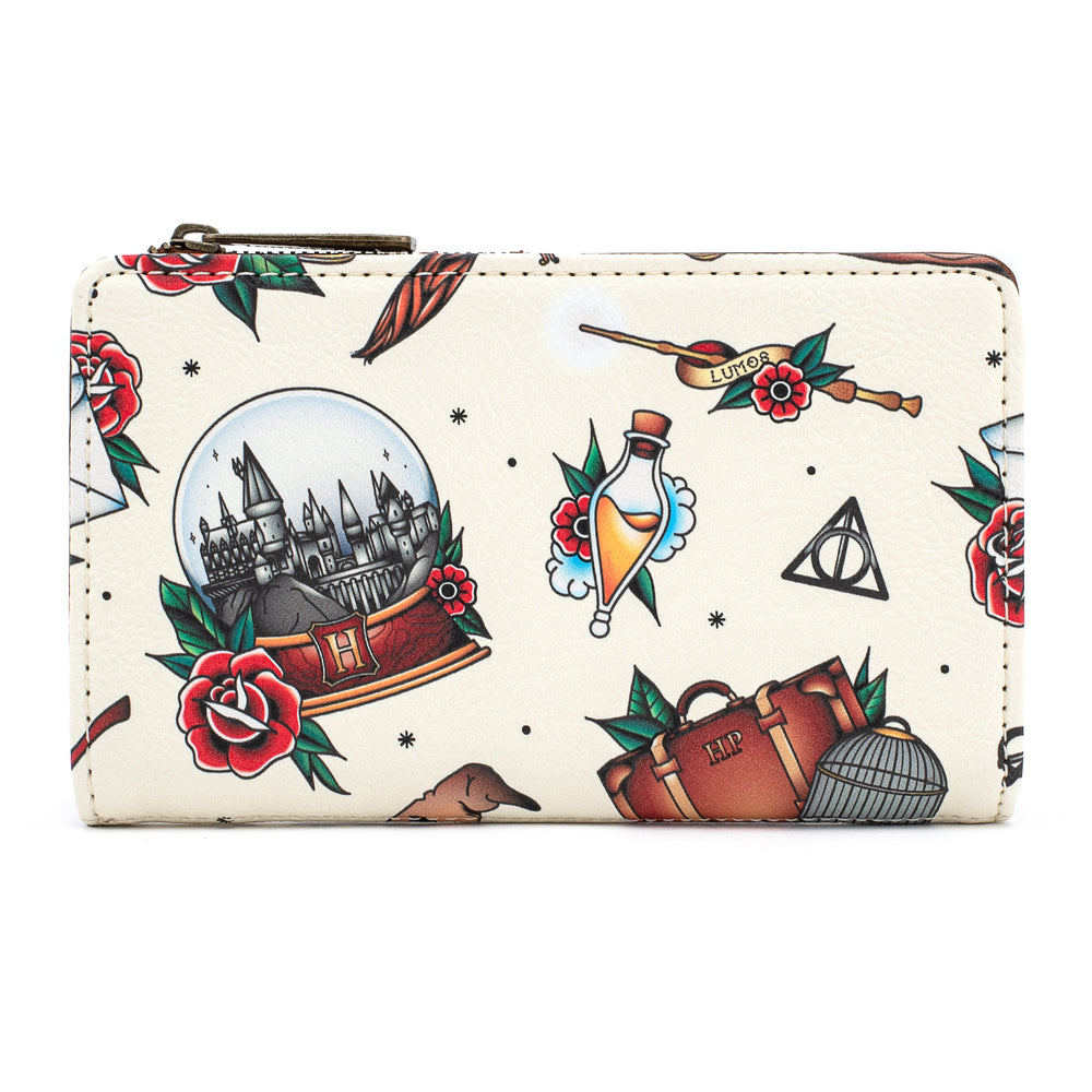 Loungefly X Harry Potter Relics Tattoo Flap Wallet-zoom