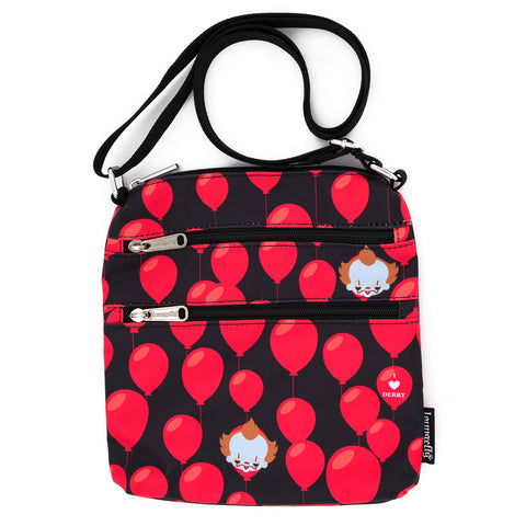 Loungefly X IT I heart Derry AOP Nylon Passport Bag