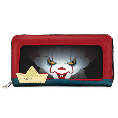 IT Sewer Scene Pennywise Zip Around Wallet