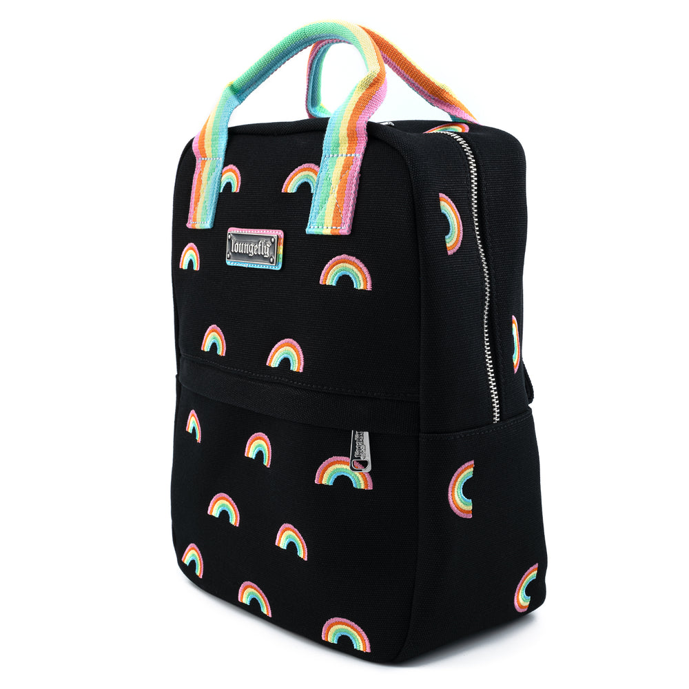 Loungefly Rainbow Pride Canvas  Backpack-zoom