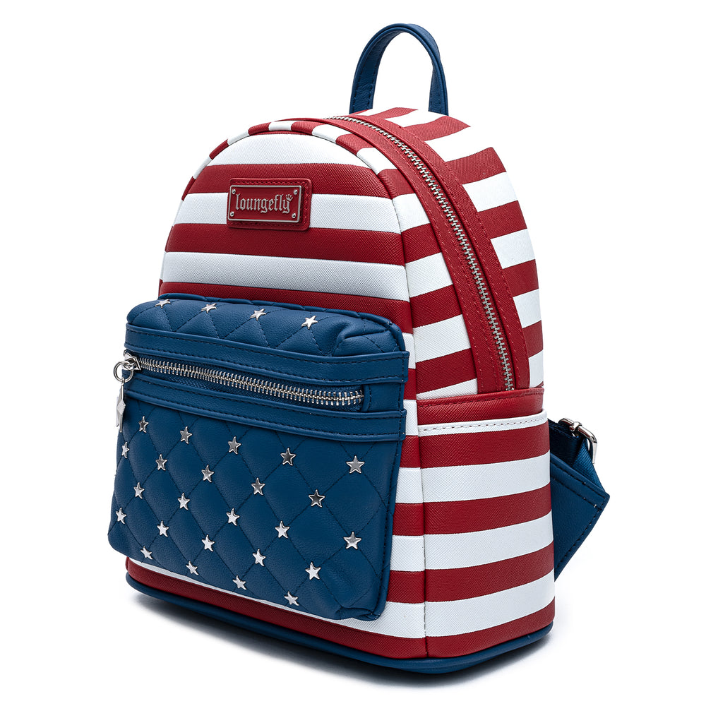 Loungefly Americana Quilted Mini Backpack-zoom