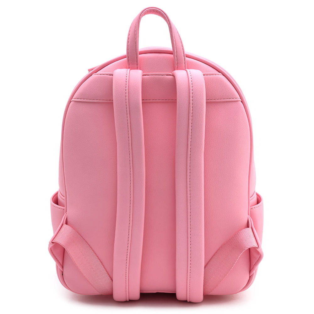 Loungefly Pink Pin Trader Faux Leather Mini Backpack-zoom