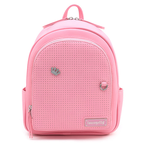 Loungefly Pink Pin Trader Faux Leather Mini Backpack