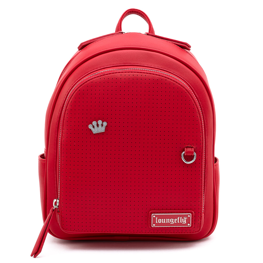 Loungefly Red Pin Trader Faux Leather Mini Backpack-zoom