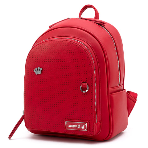 Loungefly Red Pin Trader Faux Leather Mini Backpack