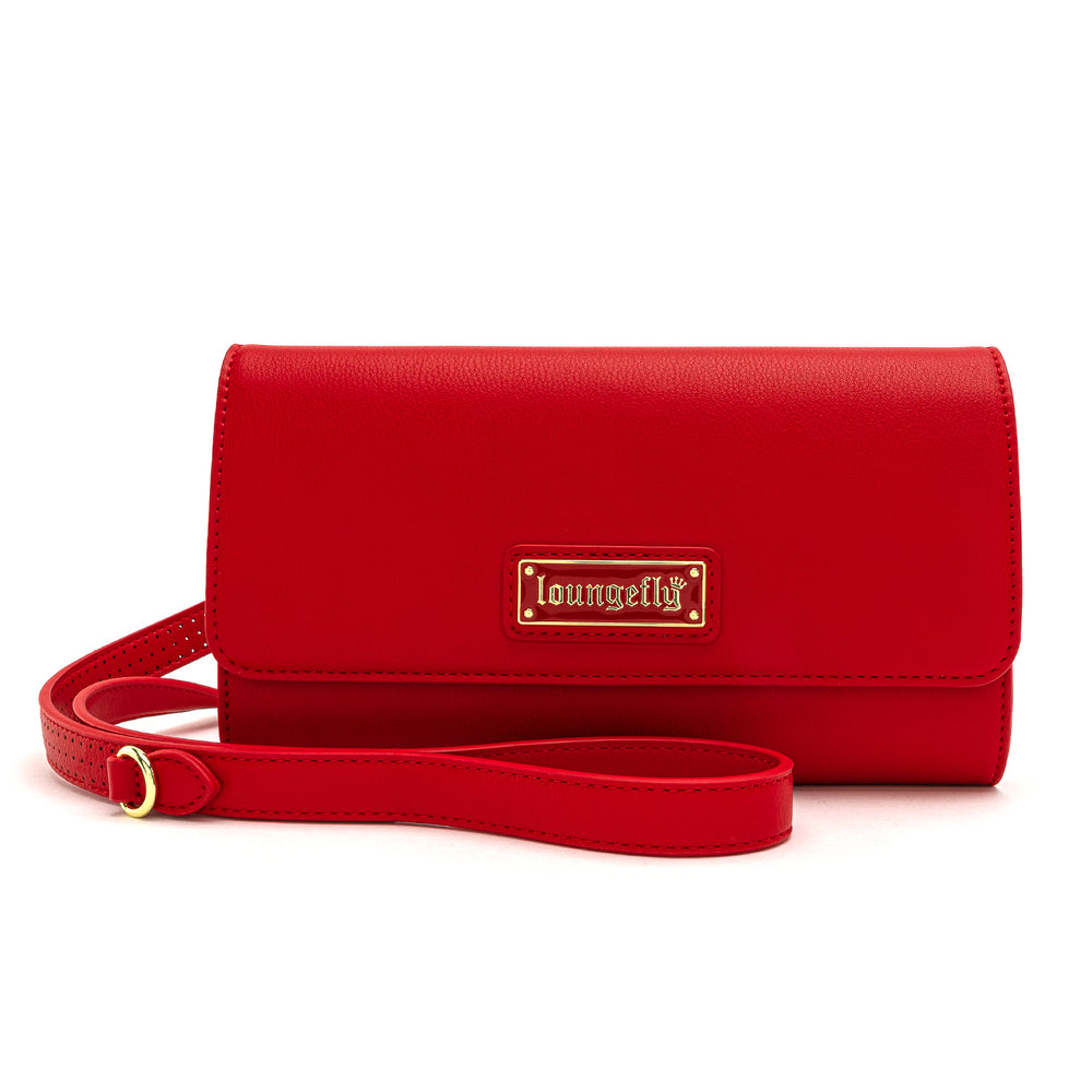 Loungefly Red Pin Trader Double Crossbody Bag-zoom