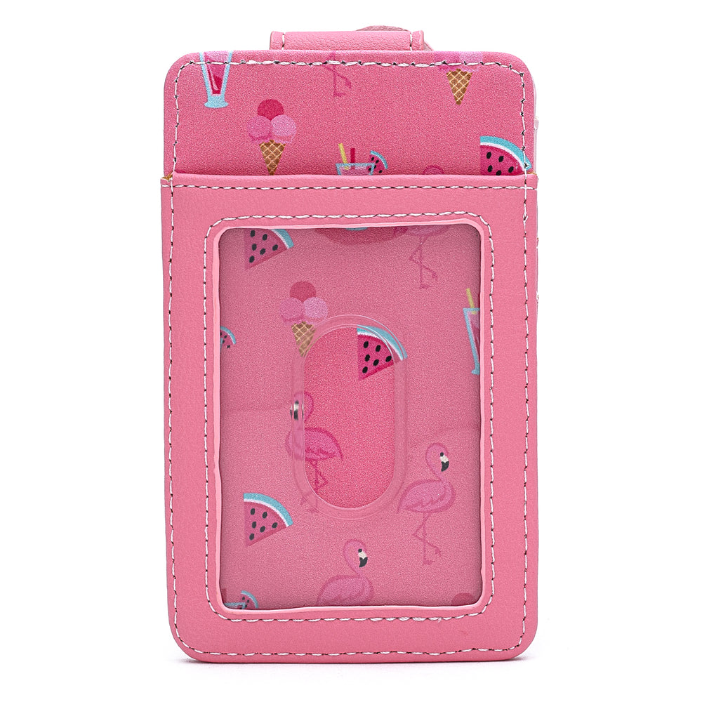 Loungefly Pool Party Flamingo Card Holder-zoom