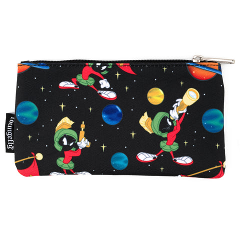 Loungefly X Looney Tunes Marvin The Martian AOP Nylon Pouch