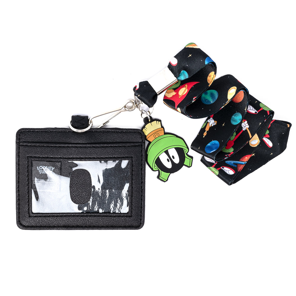 Looney Tunes Marvin the Martian Lanyard with Cardholder-zoom