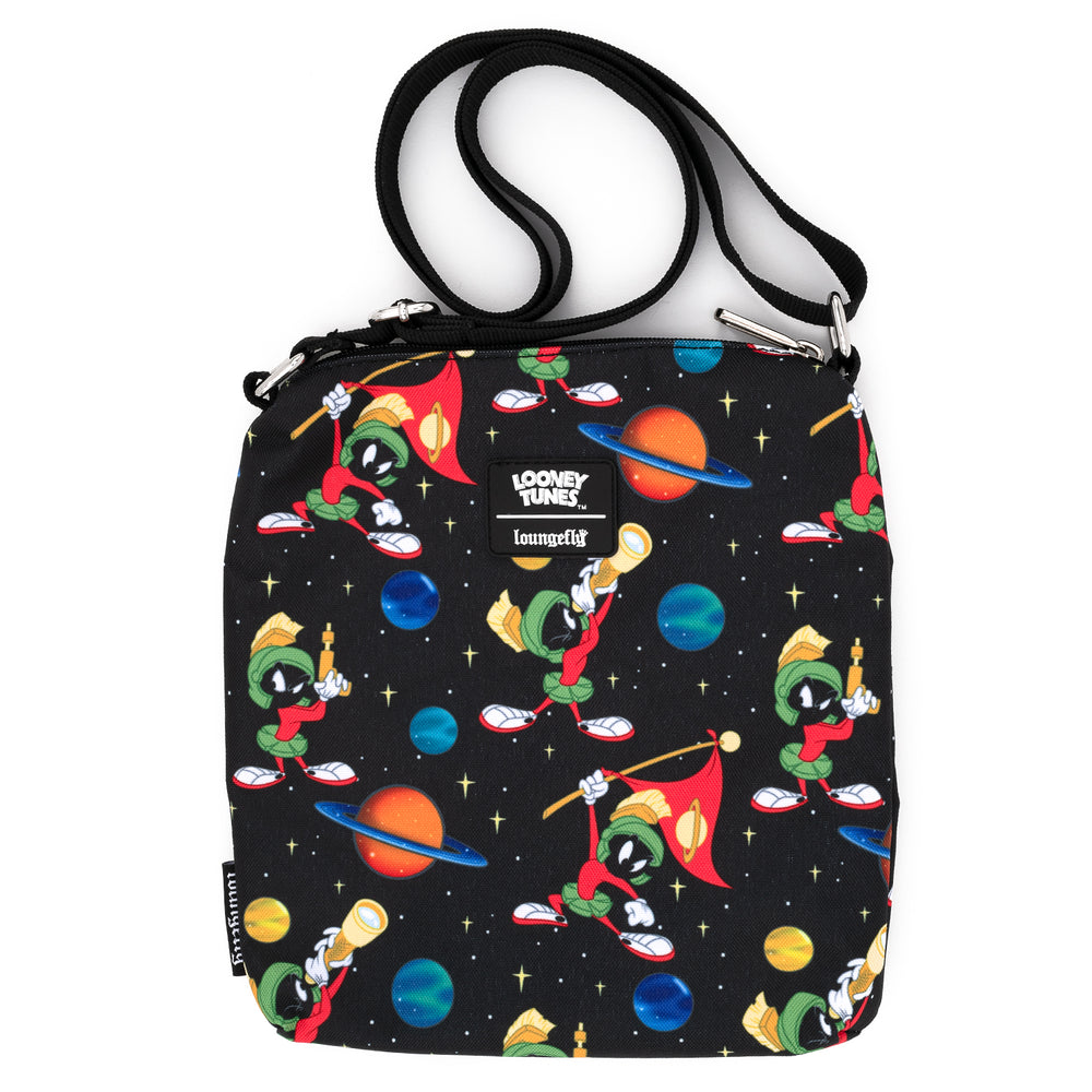 Loungefly X Looney Tunes Marvin The Martian AOP Nylon Passport Bag-zoom