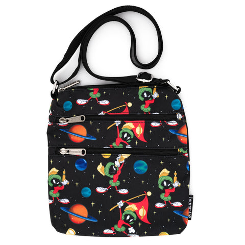 Loungefly X Looney Tunes Marvin The Martian AOP Nylon Passport Bag