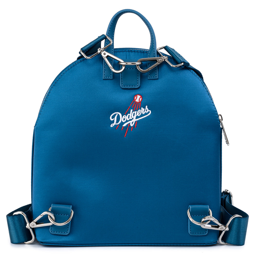 Loungefly X MLB LA Dodgers Satin Jacket Convertible Mini Backpack-zoom