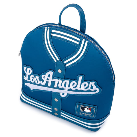 Loungefly X MLB LA Dodgers Satin Jacket Convertible Mini Backpack