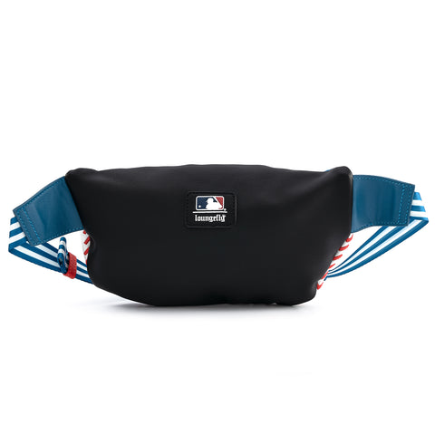 MLB LA Dodgers Baseball Stitch Fanny Pack