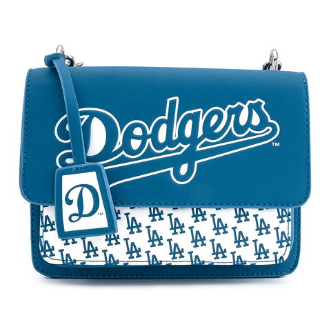Loungefly X MLB LA Dodgers Blue AOP Pocket Cross Body Bag